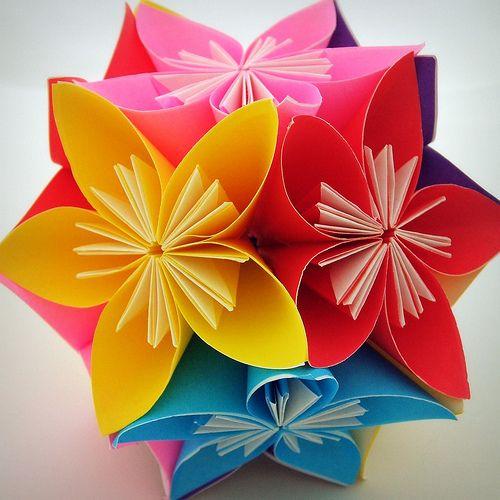 Как сделать цветок из цвет бумаги 646