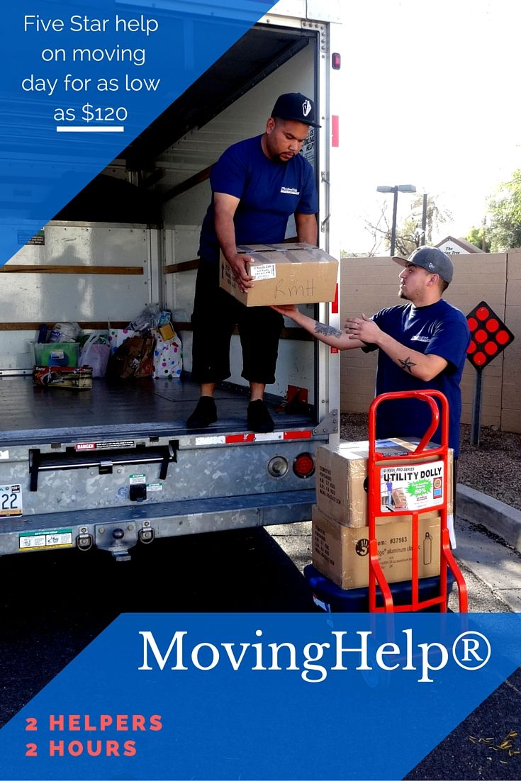 Hire movers to unload truck