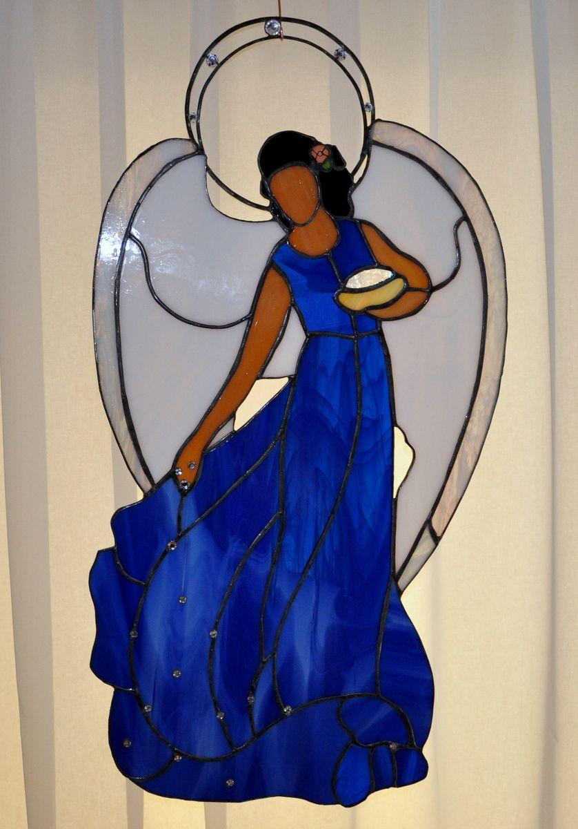 RSart-angel stained glass | vitrales | Pinterest | Weihnachtsengel ...