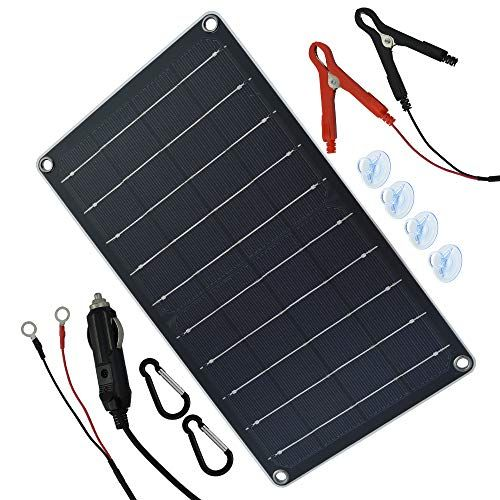 Tp Solar 10 Watt 12 Volt Solar Panel Car Battery Charger 10w 12v Portable Solar Trickle B In 2020 Solar Battery Charger Solar Power Battery Charger Car Battery Charger