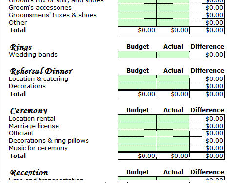 Free Household Budget Spreadsheets For   Budget Planner
