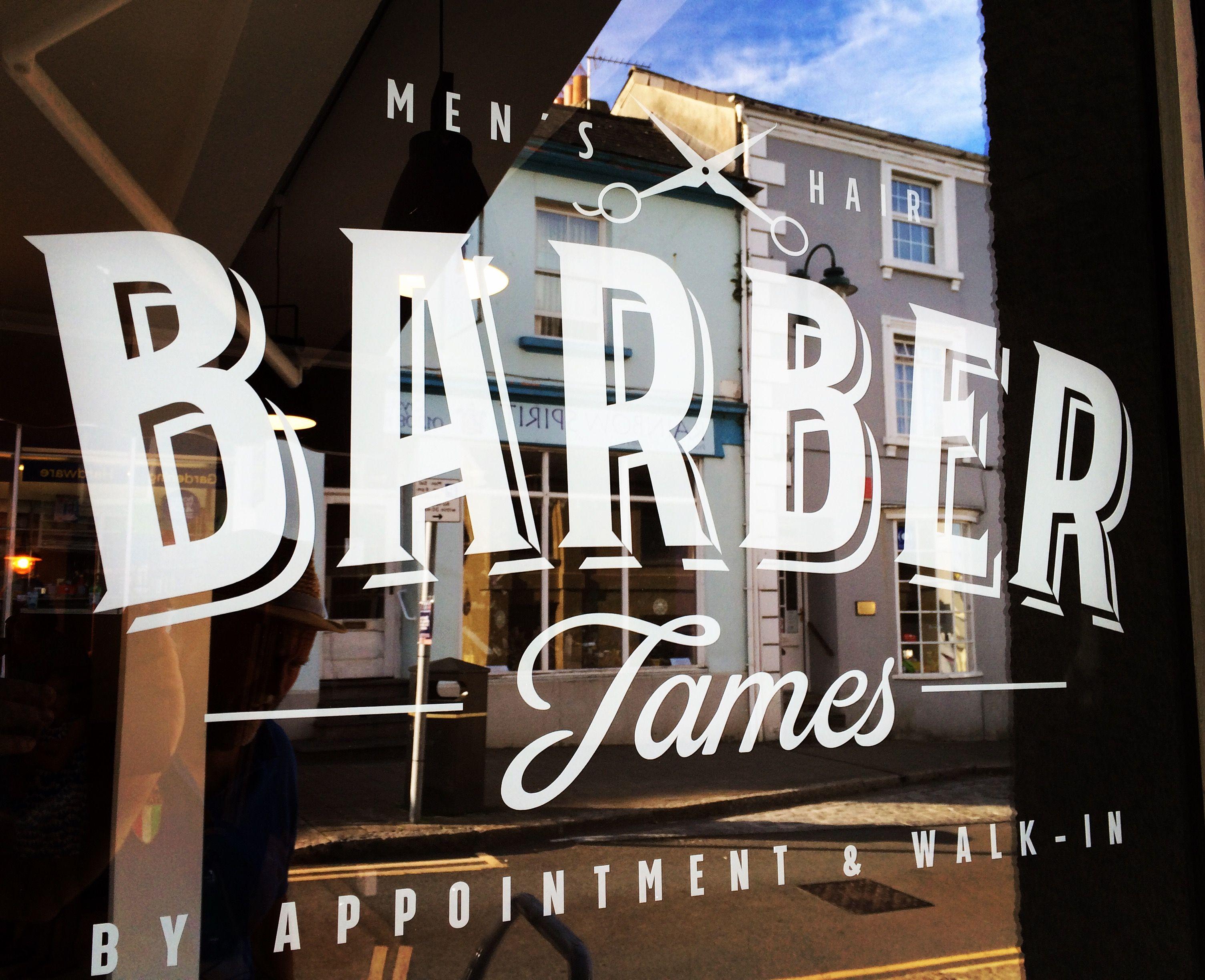 Barber shop window signage | Window signage, Signage, Shop ...
