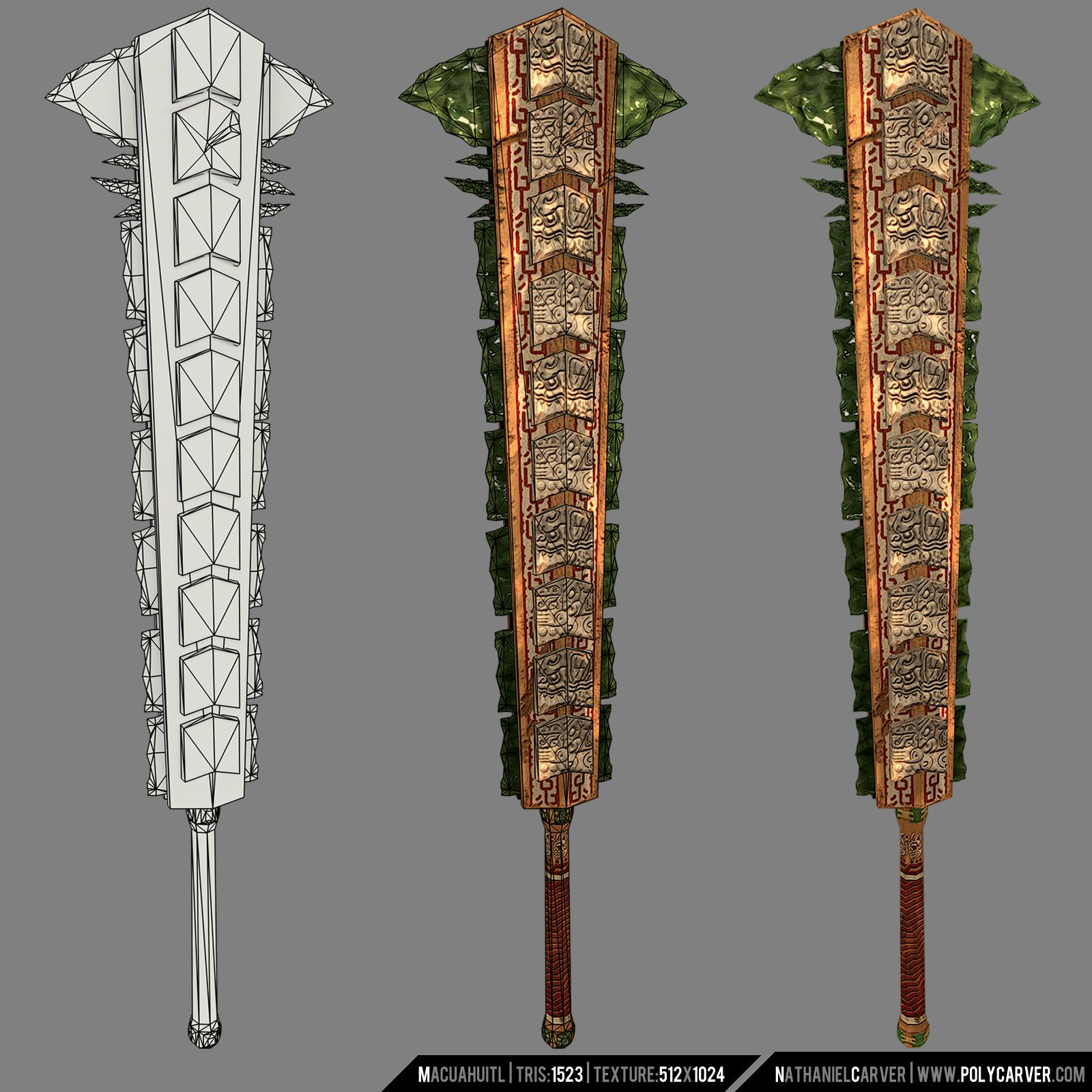 aztec sword macuahuitl boffer weapon inspirations