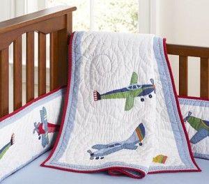 Airplane Nursery Bedding For Little Boys