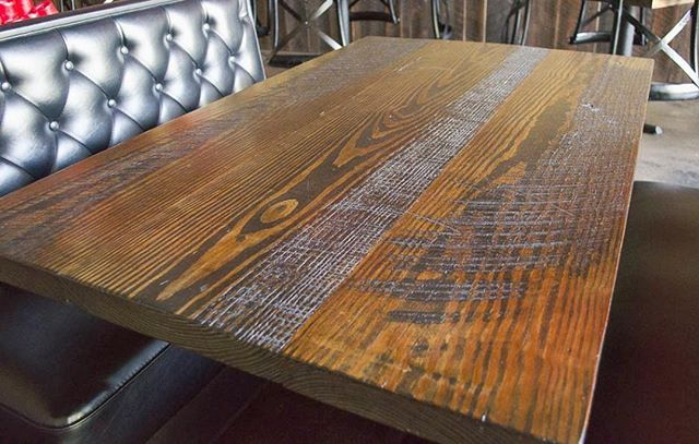Gorgeous Pine Table Tops At East West In Downtown Birmingham
