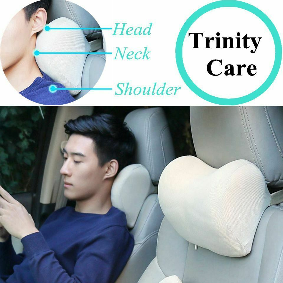 Details About 1pcs Car Headrest Neck Pillow For Seat Chair In Auto Memory Foam Cotton Mesh In 2020 Neck Pillow Cushion Fabric Pillows