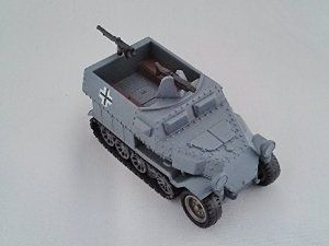 KAIYODO CapsuleQ Capsule Q WTM World Tank Museum Series 2 Deform Style Vehicle German Schutzenpanzerwagen Grey