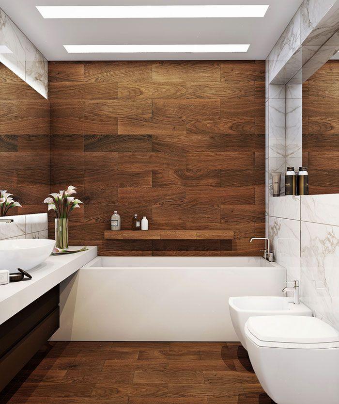 Bildergebnis für holzfliesen badezimmer   Badezimmer ...