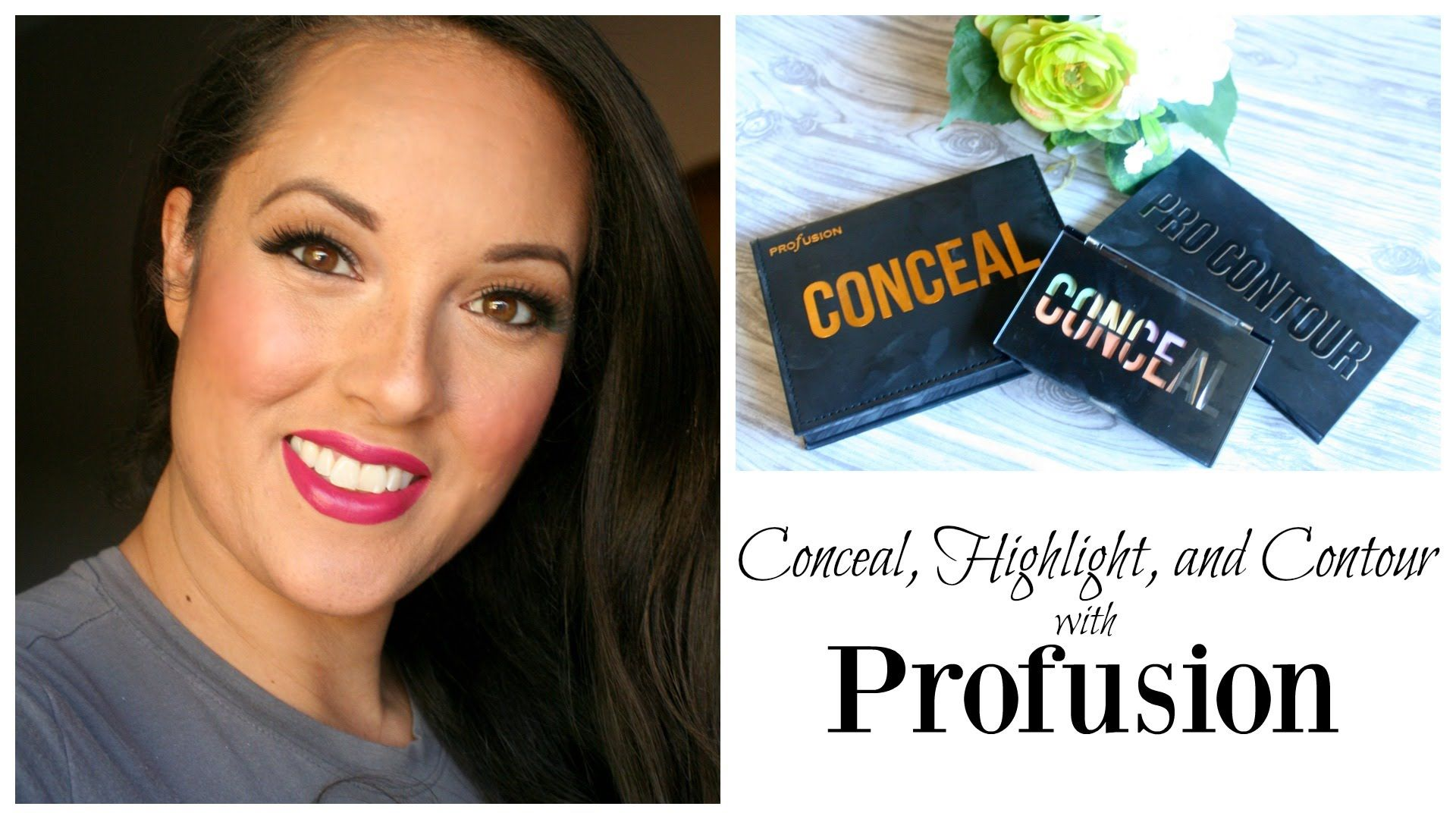 Conceal highlight and contour with profusion color correcting conceal highlight and contour with profusion a makeup tutorial on color correcting for dark spots dark circles and redness along with cream and powder baditri Image collections