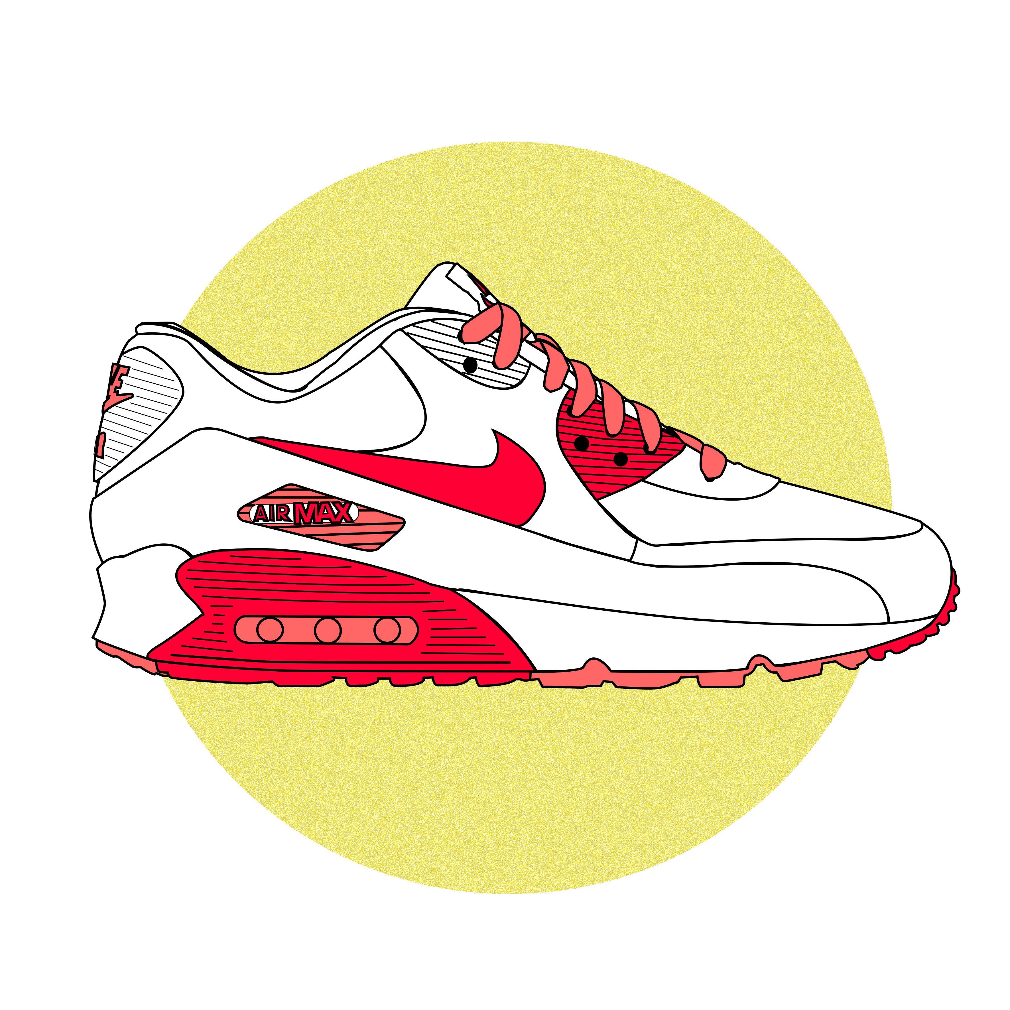 Nike AirMAX 90 #Strawberry Daniel Medina 2013 #Illustration #Nike #AirMAX90