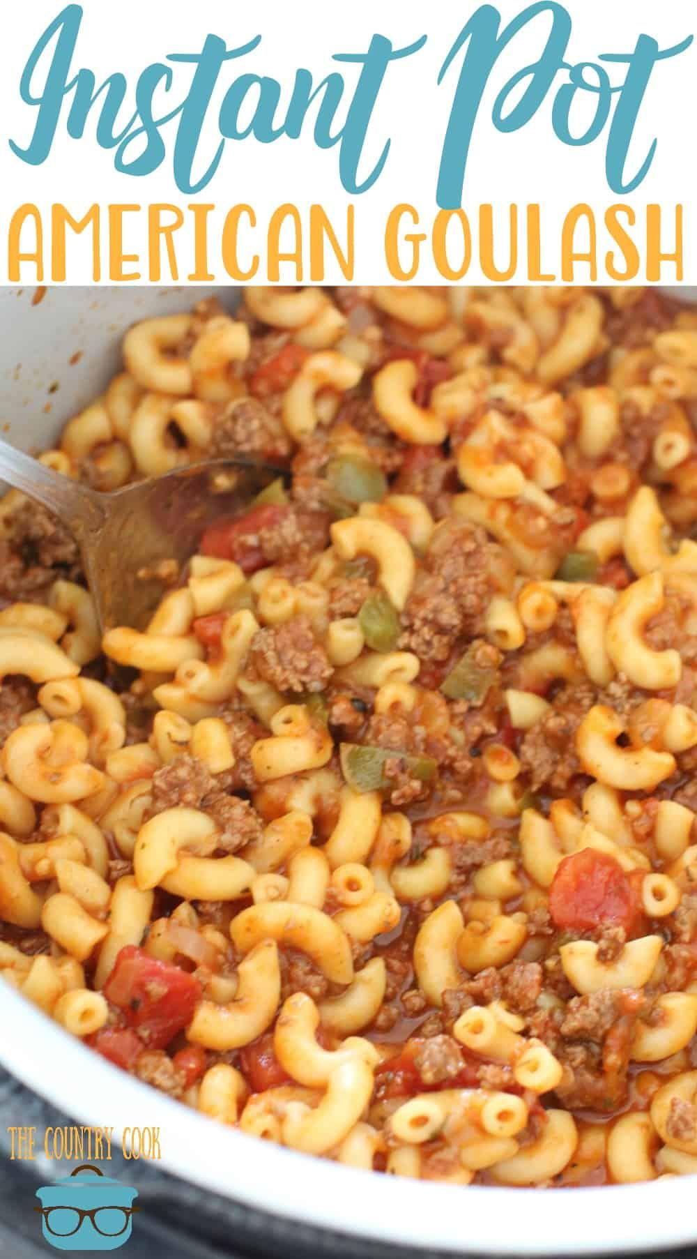 Instant Pot Goulash Ground Beef Recipe Instant Pot Dinner Recipes One Pot Meals Goulash Recipes