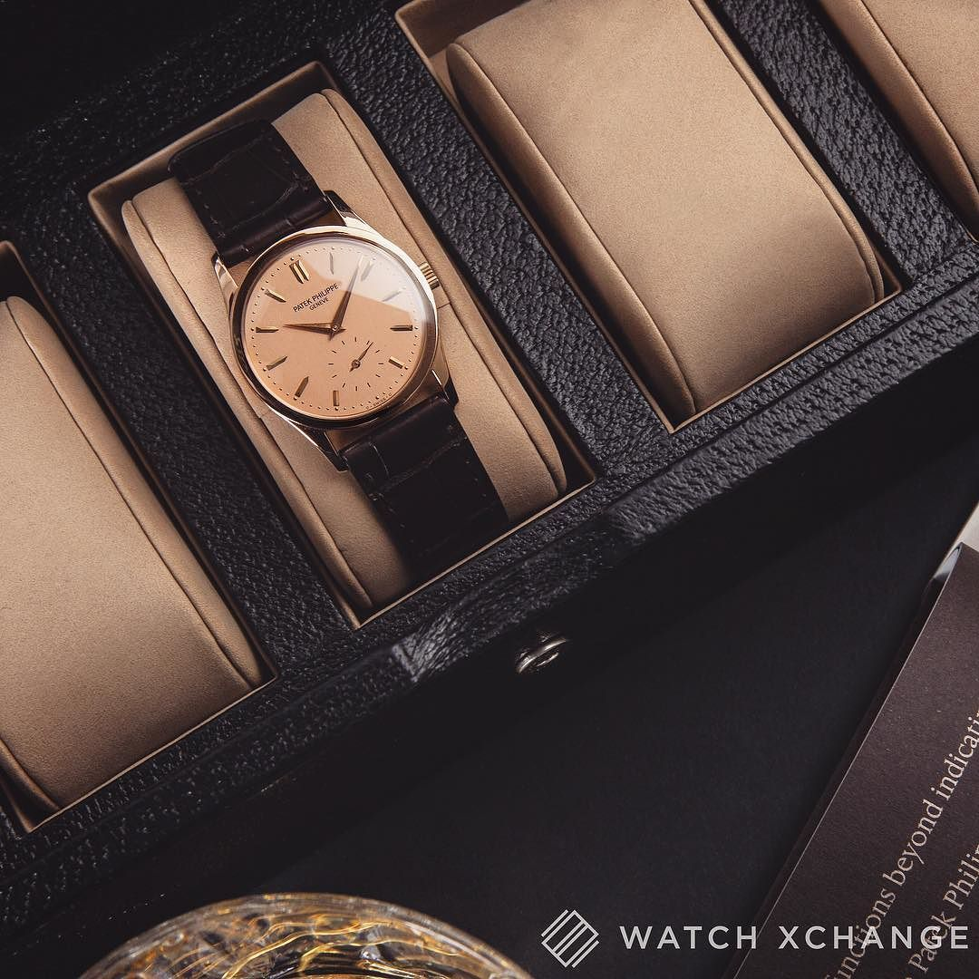 A fantastic Patek Philippe Ref. 3796 in pink gold with champagne dial // Available at watchxchange.london