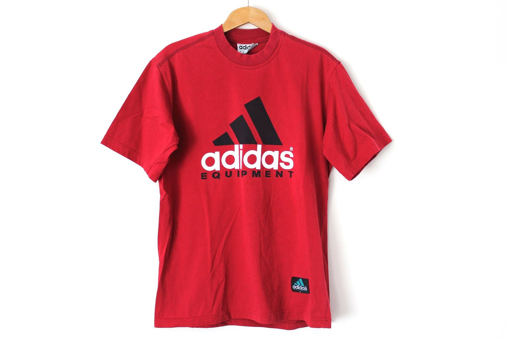 Vintage Adidas Equipment T Shirt Red Shirt Short Sleeve Tshirt Sportswear Top Activewear Big Logo Size M Vintage Adidas Shirts Adidas Sportswear [ 1152 x 1728 Pixel ]
