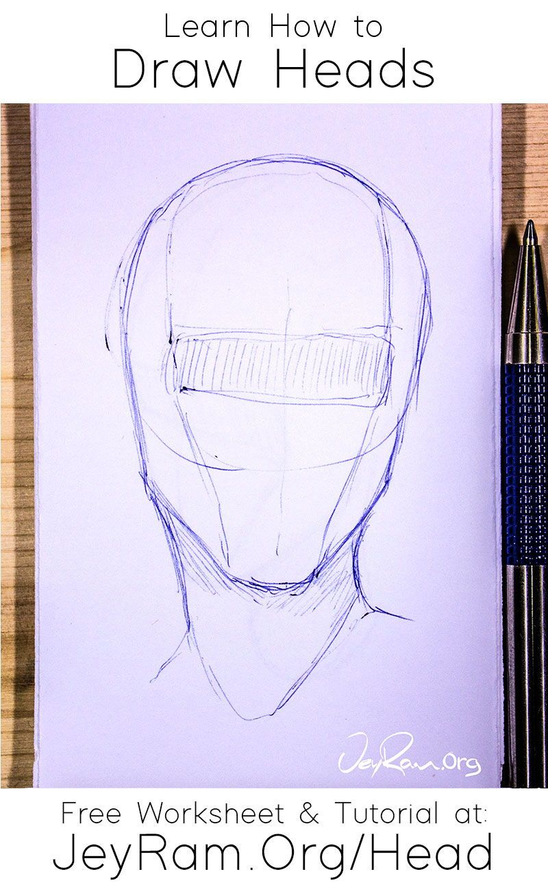 How to Draw the Head from Any Angle : Free PDF Worksheets & Video Tutorial — JeyRam Art