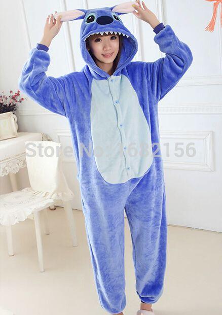 c75de231717 Aliexpress.com: Comprar Pijamas unisex de punto para adultos azul y rosa  Flanel Onesie, traje Cosplay, pijamas de animales de stitch onesie fiable  ...