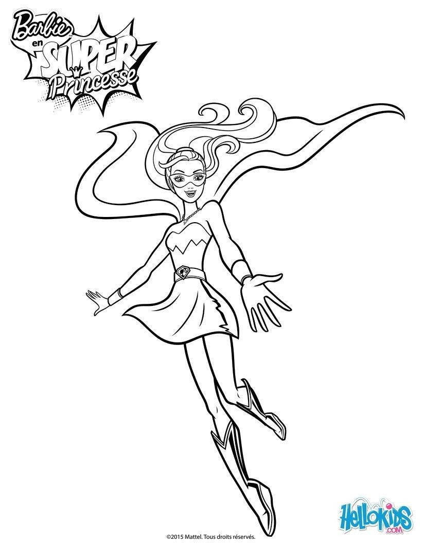 Un Coloriage De Barbie Super Princesse Inedit Colorie La