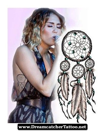 Miley Cyrus Tattoos Dreamcatcher 06 - http://dreamcatchertattoo.net/miley-cyrus-tattoos-dreamcatcher-06/