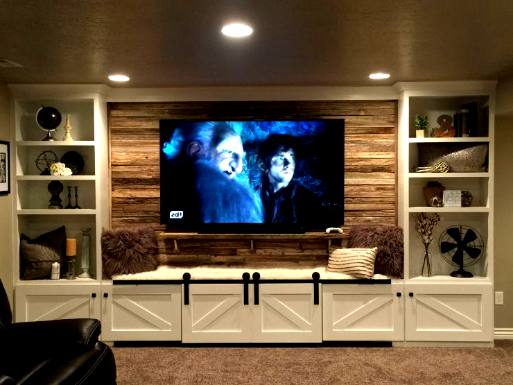 Opulent Wall Unit For 70 Inch Tv As 17 Diy Entertainment Cen In