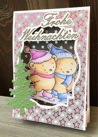 Kerstin's kleine Bastelwelt: Paarlauf in Zeltkarte.... Weihnachten 2016