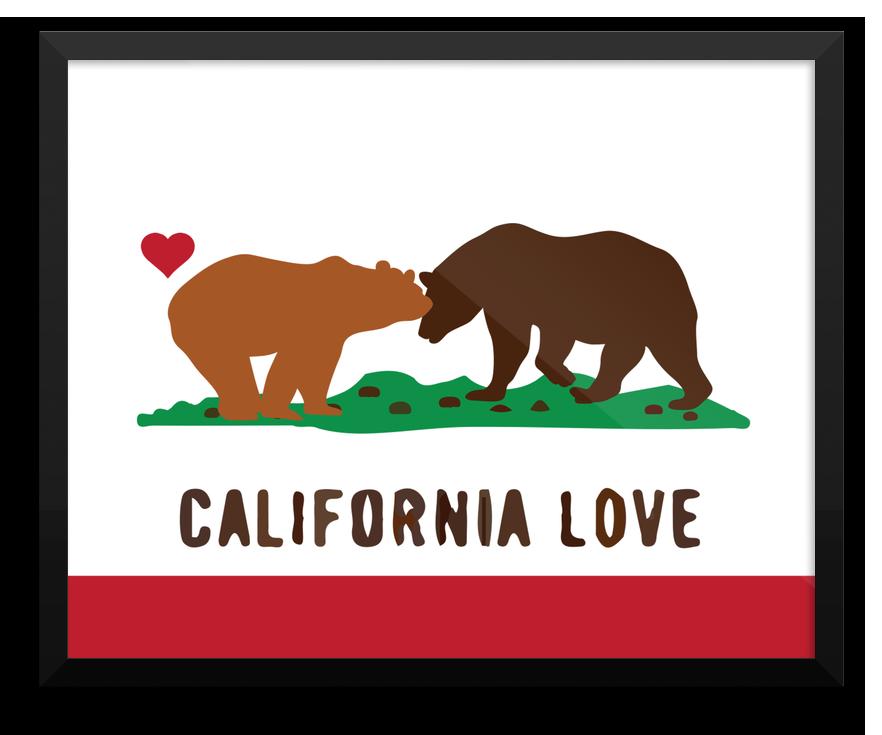 Wall Art California Love Bears State Flag California Wall Art California Love California State Flag