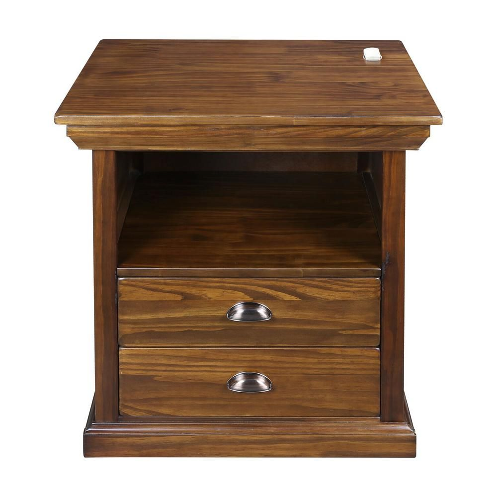 Casual Home Lincoln Nightstand With Concealed Compartment 615 77