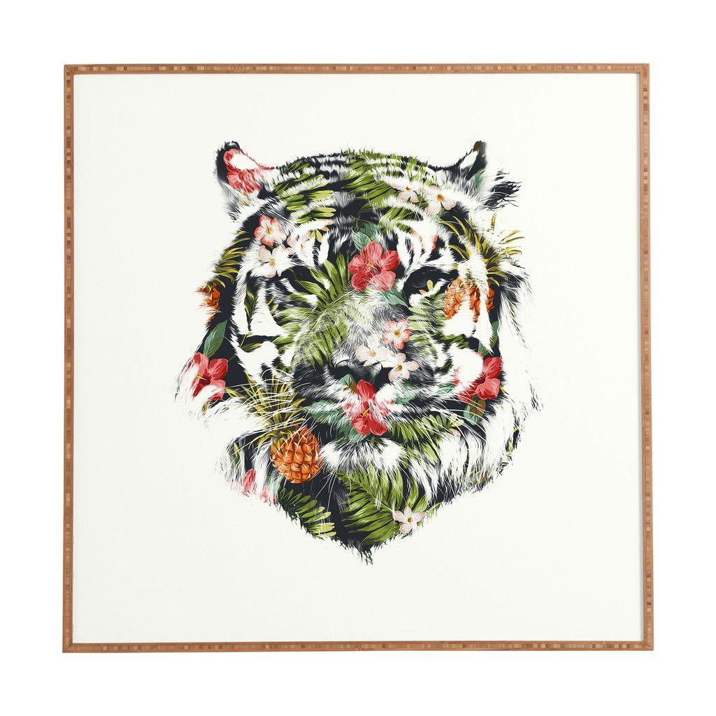 Robert Farkas Tropical tiger Framed Wall Art | DENY Designs Home Accessories