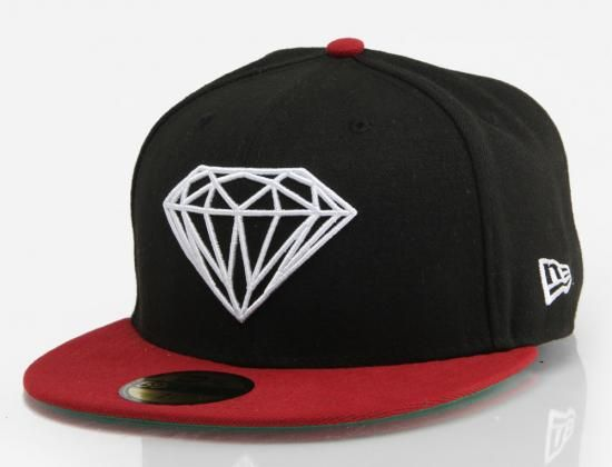 9f4e53fcbb2 Brilliant Black-Red 59Fifty Fitted Baseball Cap by DIAMOND SUPPLY CO. x NEW  ERA