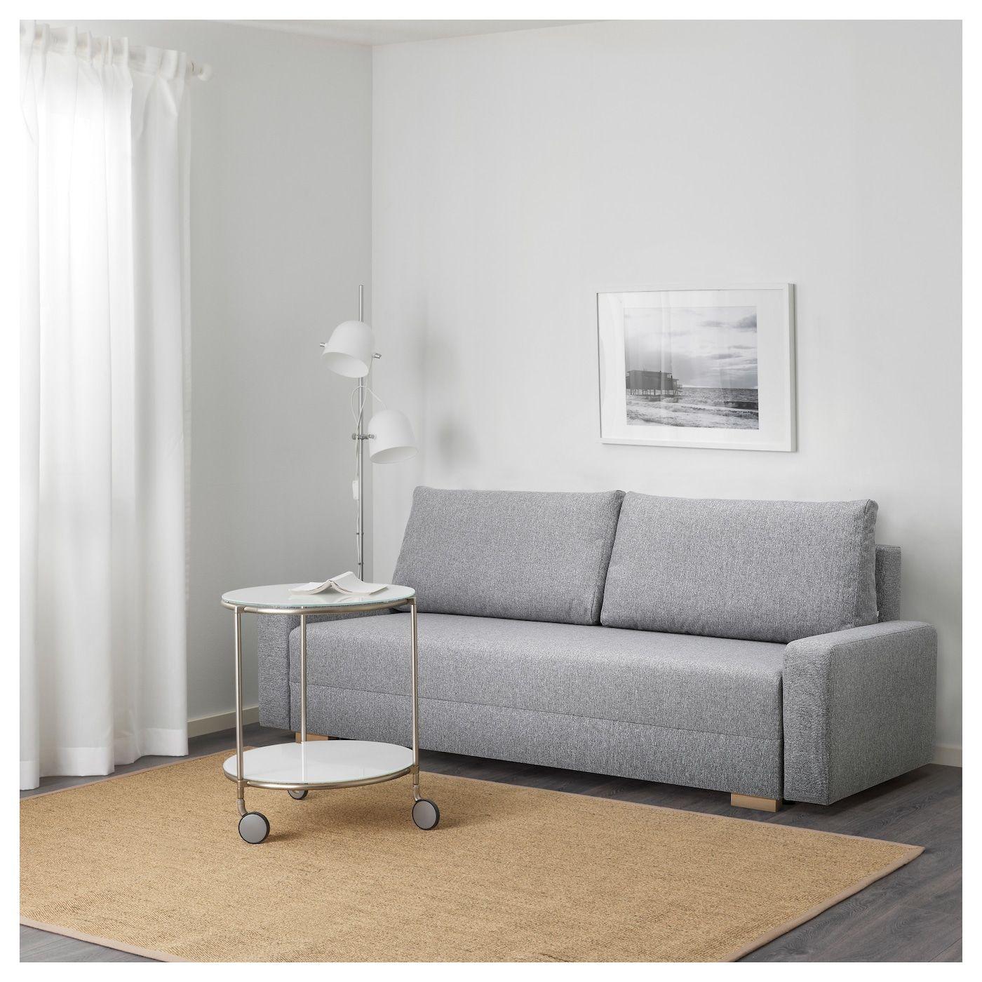 Gralviken Rozkladana Sofa 3 Osobowa Szary Canape Housses De