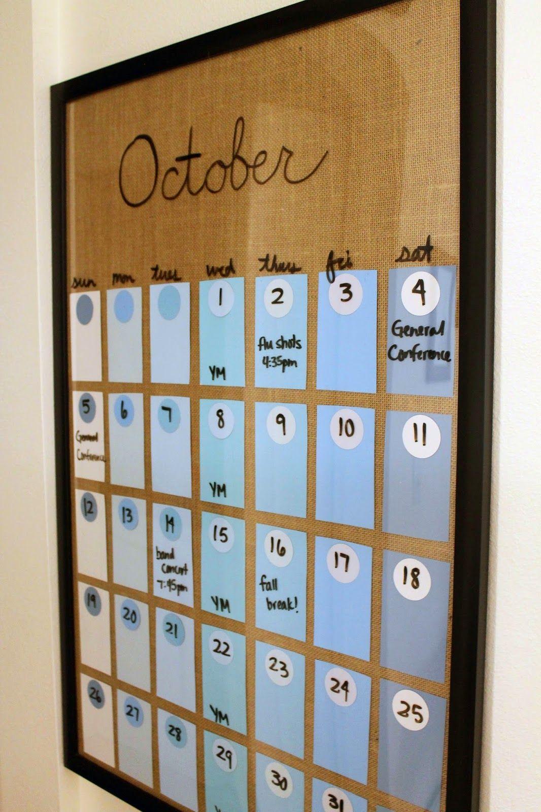 Silver Lining: DIY Paint Chip Calendar   Paint chip ...
