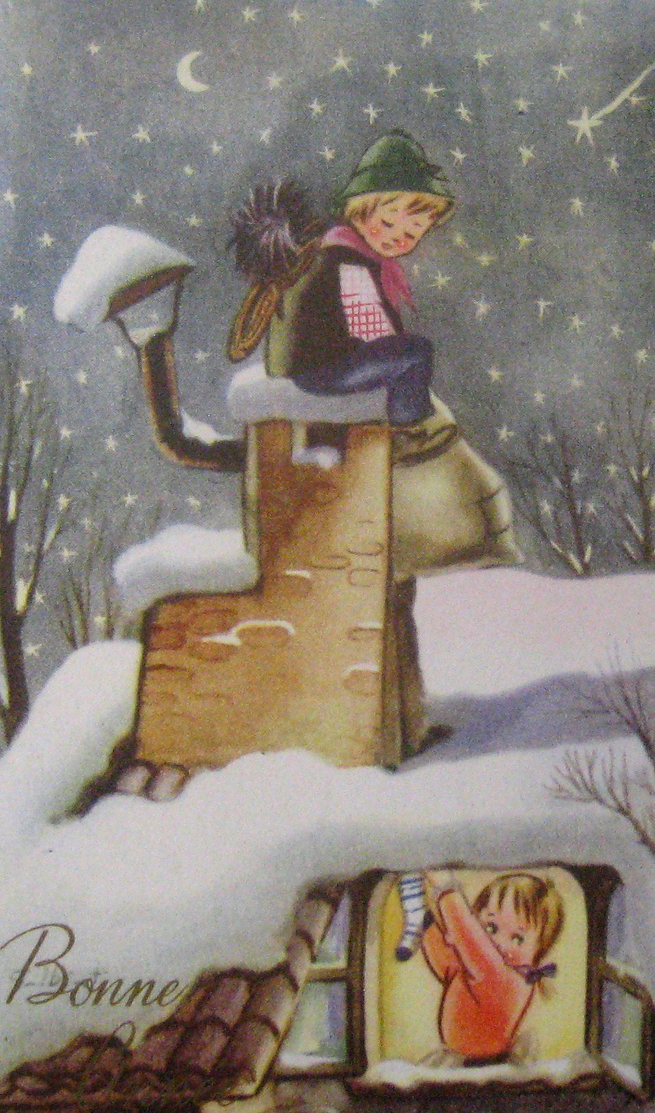 Weihnachtsbilder Klassisch.Vintage Christmas Postcard Italy Weihnachtsbilder Vintage