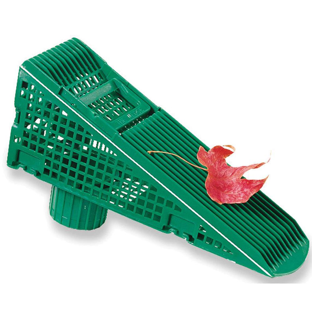 The Wedge Wedge 9 5 In Green Downspout Screen Gutter Guard 4 Pack Downspout Gutter Guard Gutter