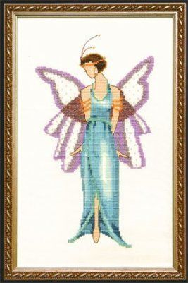 Jade Blue Spring Garden Pixie  Cross Stitch Pattern Whether in the early afternoon or in the evening hours  a garden party is always an extraordinary Event Because celebr...
