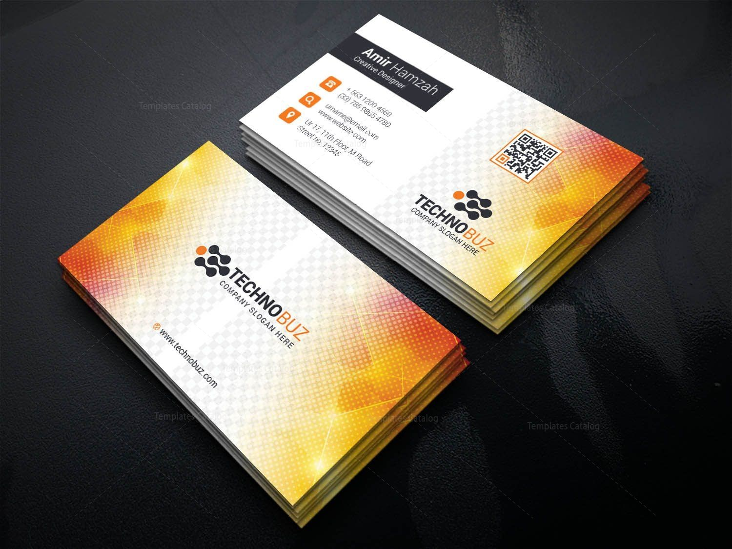 sun professional corporate visiting card template 001338 名刺