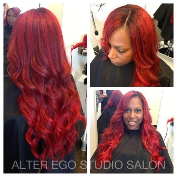 Consult the Rainbow for Your Hair Color: Try Red! This was done by Alter Ego Studio Salon in Utah. | Red hair, hairstyles, curls, waves, salon hair, dye, hair color | The Colorist Magazine
