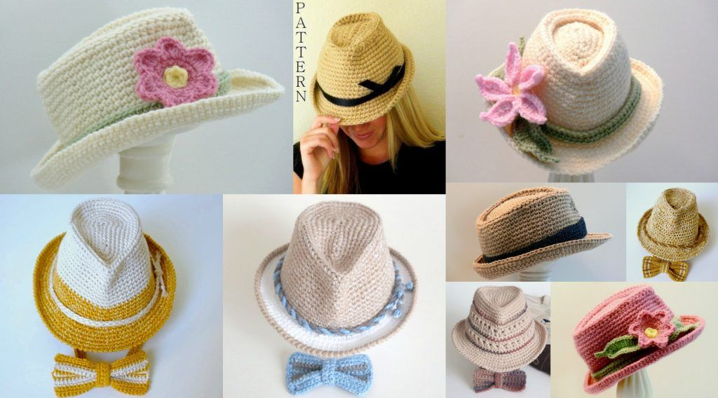 Crochet Fedora Hats