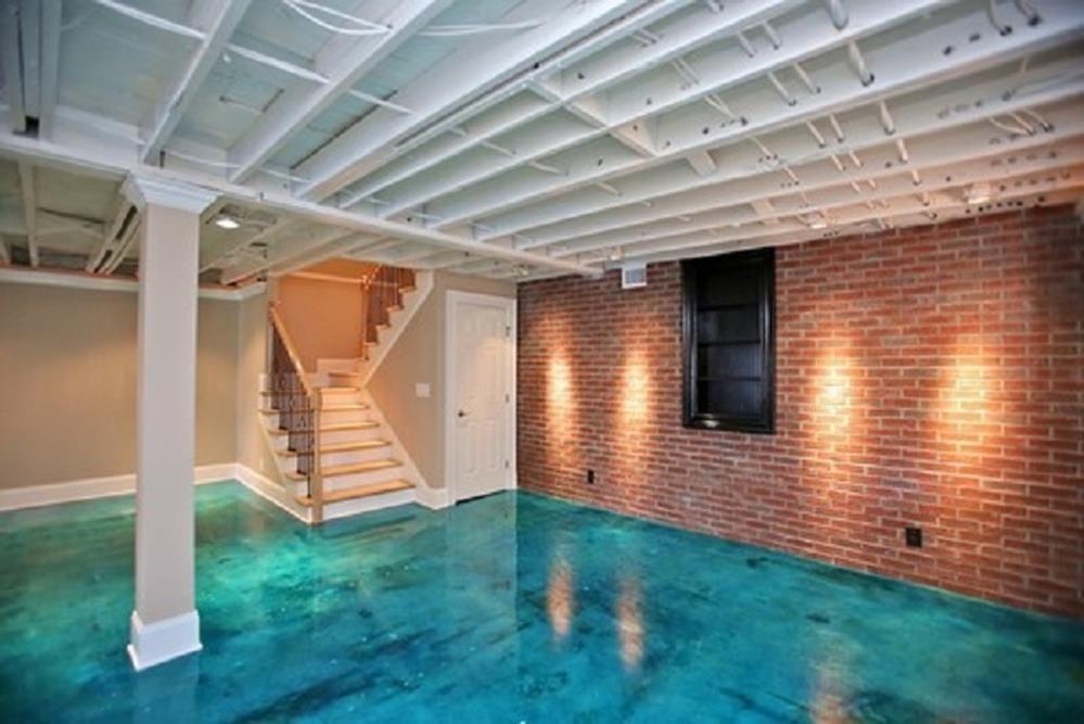 30 perfect basement concrete floor paint color ideas on concrete basement wall paint colors id=91075