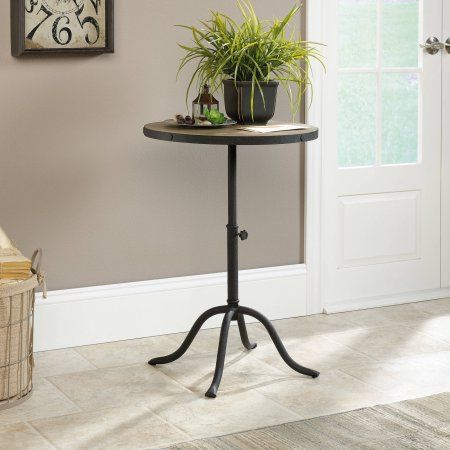 Sauder Inspired Accents Pedestal Table, Craftsman Oak, Brown