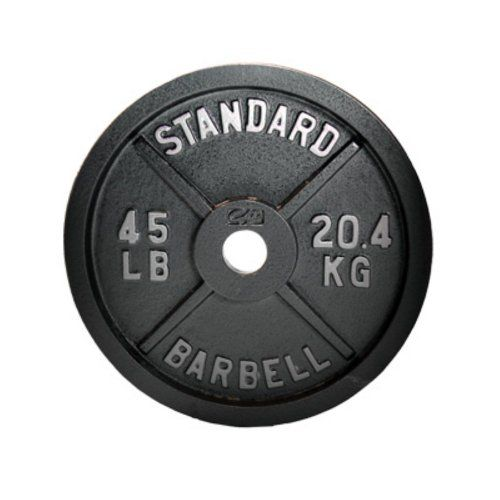 Logo Background Cap Barbell 45 Lb Gray Olympic Weight