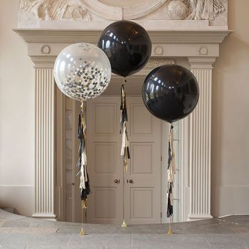 Giant, Glamorous #Balloons with Tassel Tails  #Launch #Party