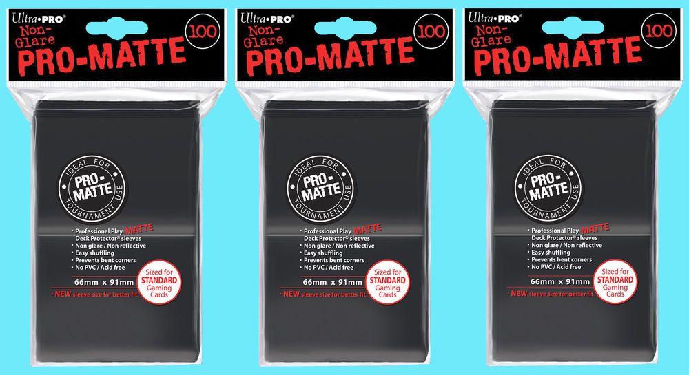 Magic: The Gathering, MTG) 200 Ultra Pro Deck Protector Card Sleeves Pro Matte Black Standard Magic Pokemon Overig