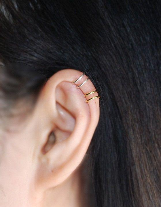 9ct Gold Crystal Eternity 3mm Hoop Earrings 21mm