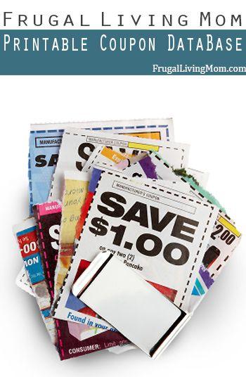 the frugal living mom printable coupon database coupons dot com smartsource etc
