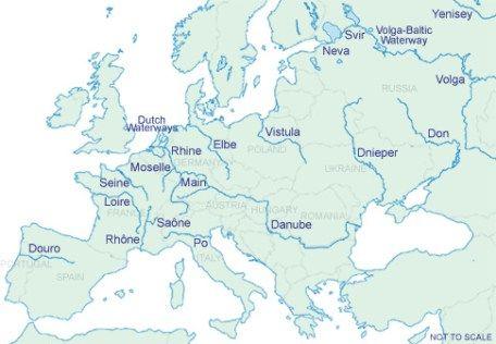Rios De Europa Mapa Con Nombres.Mapa De Los Rios De Europa Mapa De Europa Europa Y Mapas