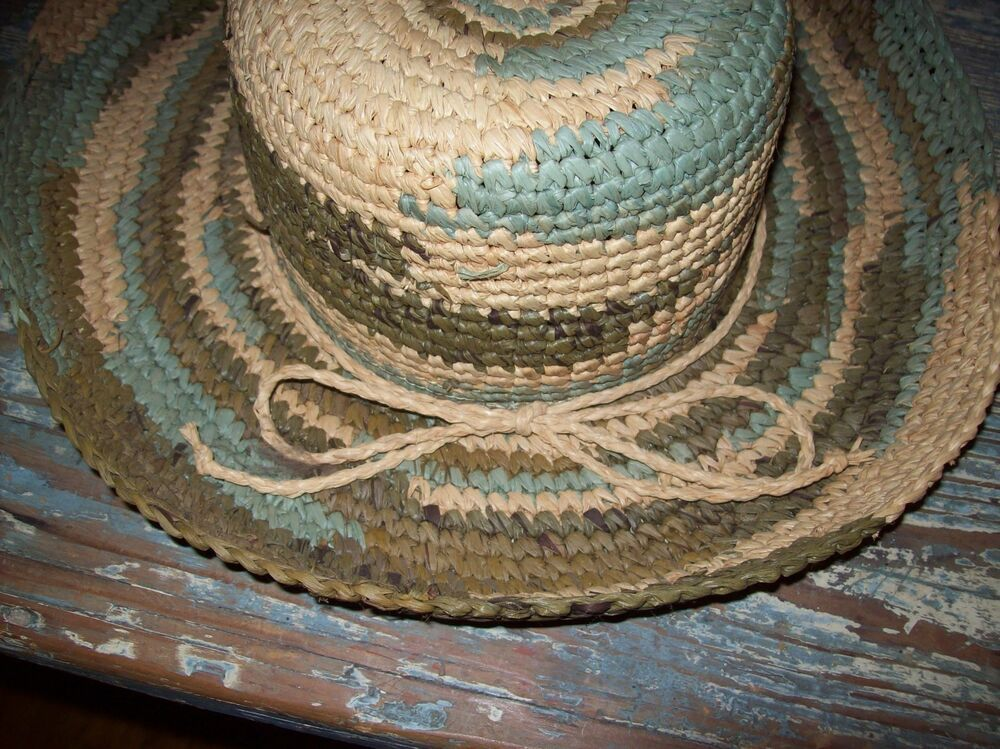 Goldcoast Sunwear Natural Fiber Hat Elasta-Fit Band Aqua-Brown-Natural NWOT   fashion  clothing  shoes  accessories  womensaccessories  hats (ebay link) 546cb1000e9