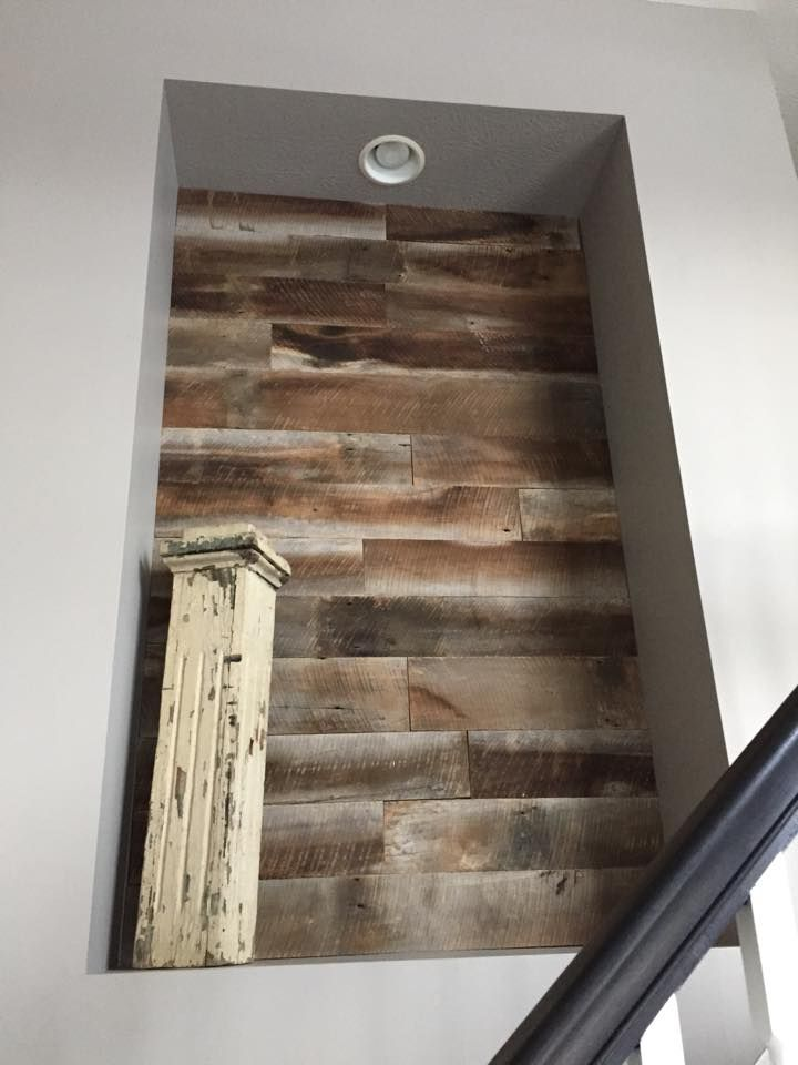 Barn Wood Wall Art Nook Accented With Reclaimed Barnwood Reclaimed Wall Barn Wood Reclaimed Barn Wood
