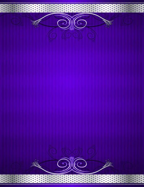 Purple and Silver Deco Background