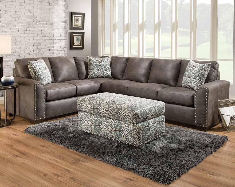 Santa Fe Gray 2 Pc Sectional Sofa Sectionals Living Rooms American Freight Sectional Living Room Decor Living Room Sectional Living Room Sofa