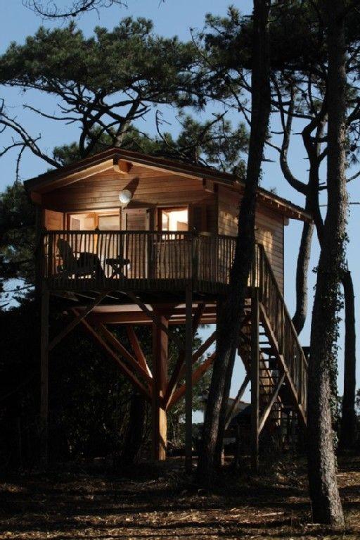 Chambre D Hotes Lacanau Ocean Gironde Aquitaine Vacances Cabane Arbre Insolite Maison Dans Les Arbres Maison De Vacances Lacanau Ocean