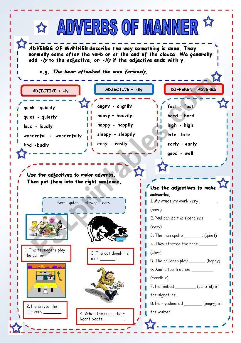 ADVERBS OF MANNER Use, form and written exercises. Hope