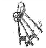 The original Keys, original design by Colorado local artist Maynard Tischler!